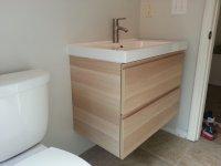Ikea wall mounted bathroom vanity install problem terry for Bathroom remodel zephyrhills