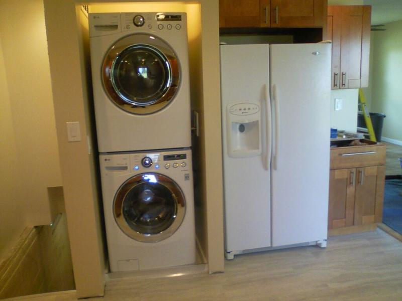 Famous Can I put laundry valves and hose behind a stacked washer/dryer  KE58