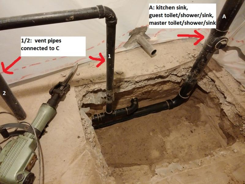 basement bathroom plumbing layout. 1026131613bbbbb Jpg Basement Bathroom Rough In  Pipe Routing Pictures Terry Love