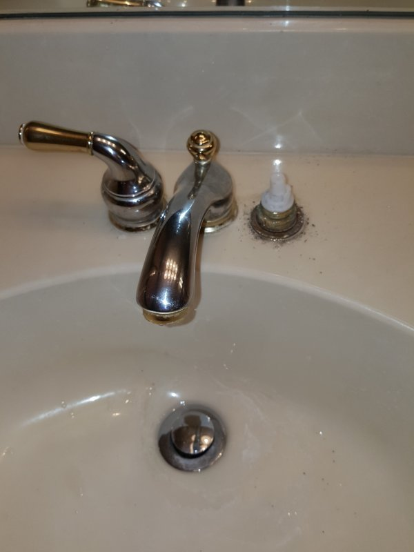 Moen Monticello. Trying to Remove Bathroom Faucet | Terry Love ...