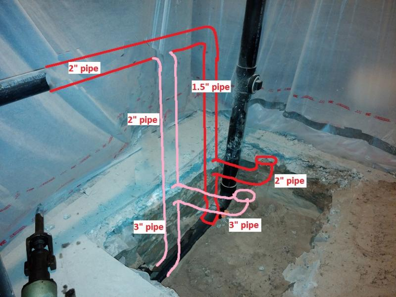 2222b jpgbasement bathroom rough in   pipe routing pictures   Terry Love  . Basement Bathroom Plumbing. Home Design Ideas