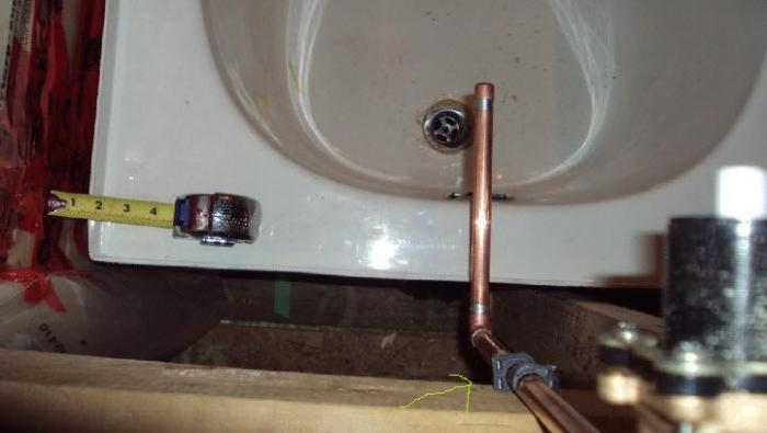 Basement bathtub drain roughin install gone wrong Terry Love