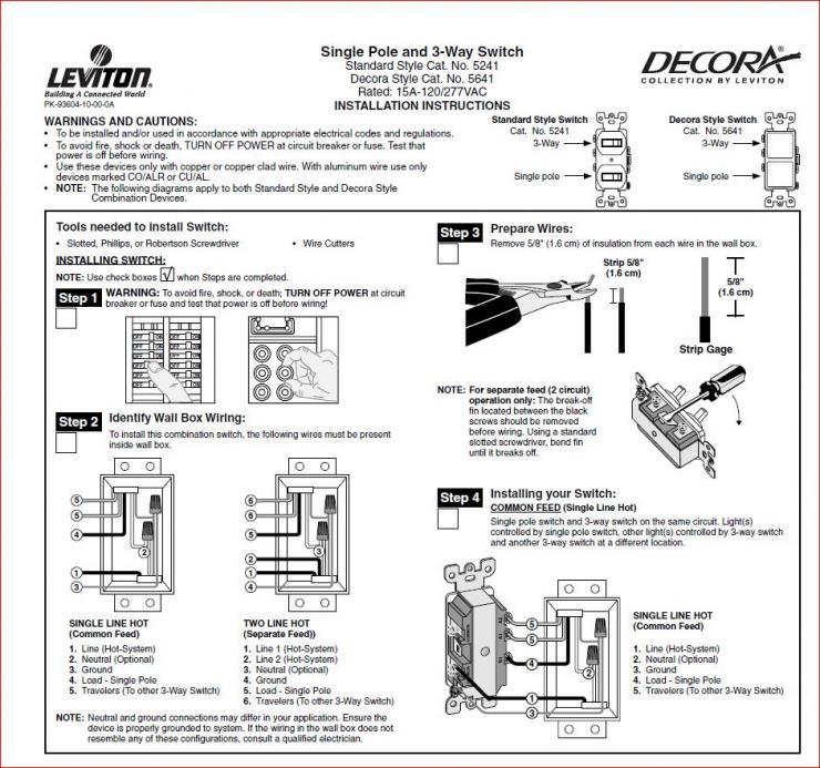 Can I use a mistakenly purchased 3way switch as a single pole – Wiring Diagram For Single Pole Switch