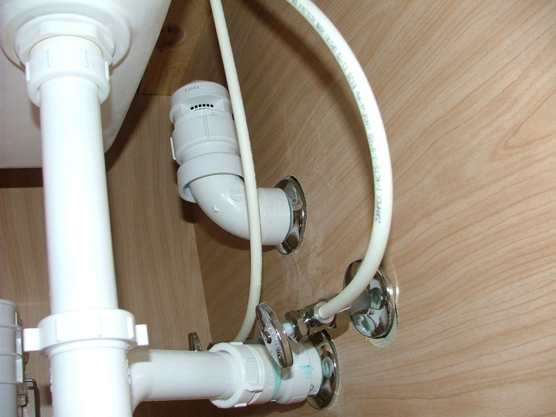 Kitchen Island Plumbing / Sewage smell | Terry Plumbing ... on under kitchen sink vent valve, under kitchen sink cover, under kitchen sink support, under kitchen sink tray,