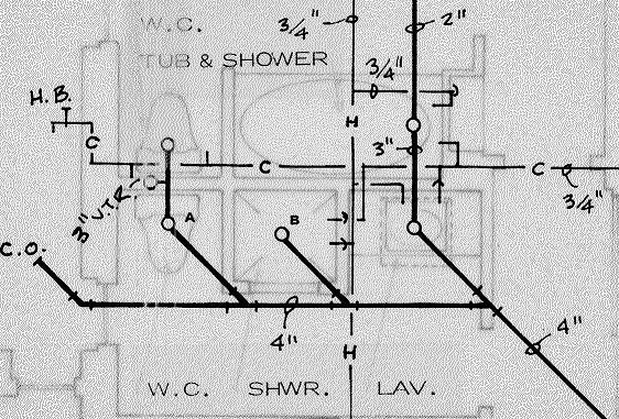 Architects Planjpg With Bathroom Plumbing Layout Drawing
