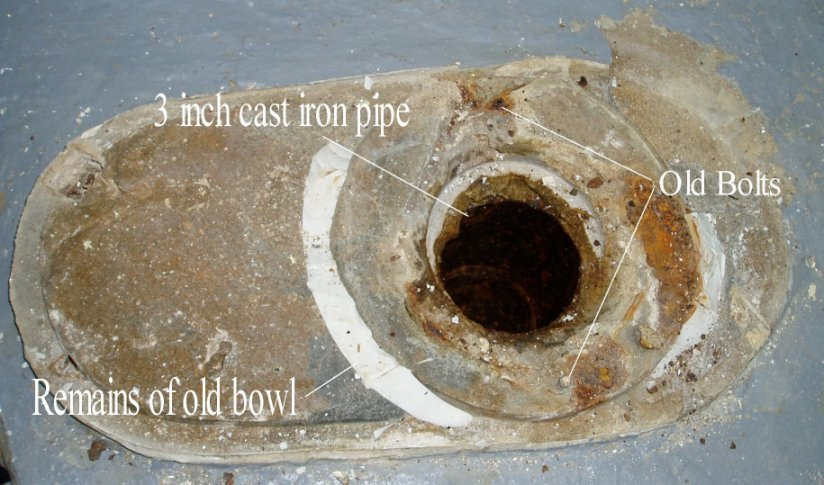 Flange replacement in concrete floor advice | Terry Love Plumbing ...
