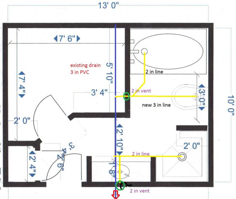 Plumbing Layout For Remodel Terry Love Plumbing Remodel DIY - Bathroom plumbing layout drawing