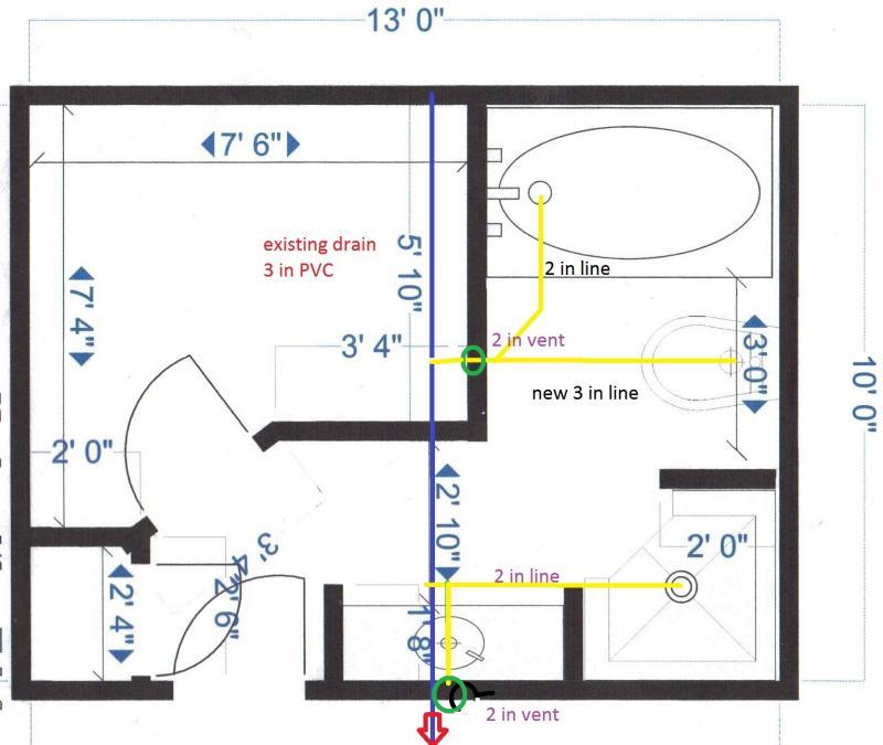 plumbing layout for remodel – Floor Plan With Plumbing Layout