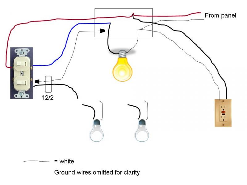 Vanity Light Wiring Diagram : fan light combo wiring diagram