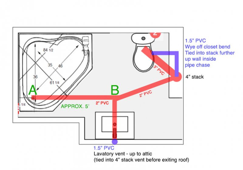 Bathroom Remodel Dwv Plan Diy Advice Terry Love