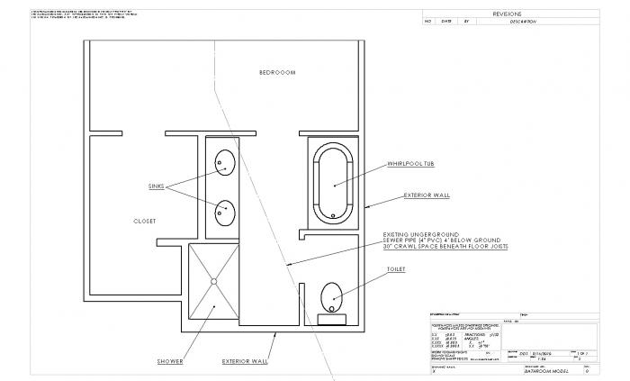 Help With General Plumbing Layout For Bathroom Addition Terry Love - Bathroom plumbing layout drawing