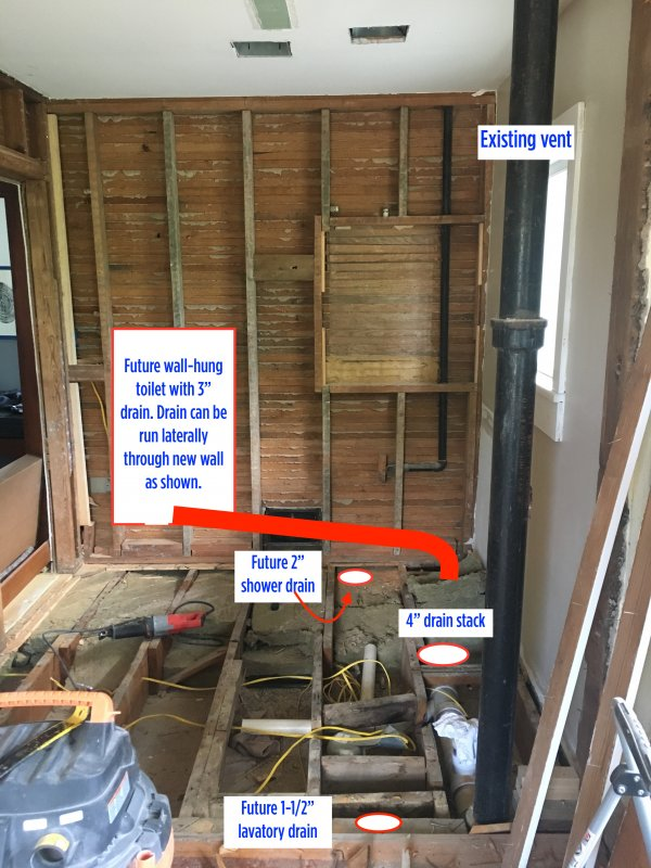 Advice For Venting Fixtures In Bathroom Remodel Terry Love Plumbing Advice Remodel Diy Professional Forum