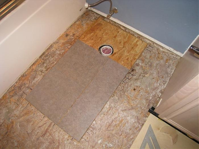 Beautiful Bathroom Subfloor   4 6 08 001