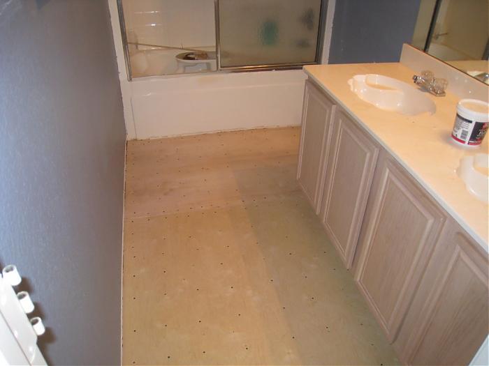 Bathroom Subfloor   4 6 08 005