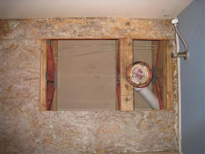Delightful Bathroom Subfloor And Waste Pipe 008