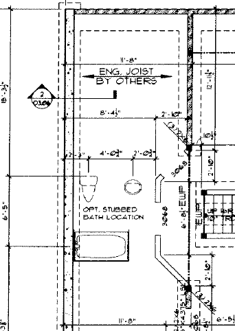 They are invisible lines from the corner to the foundation wall, just used  as a point of reference. 2. All the measurements ...