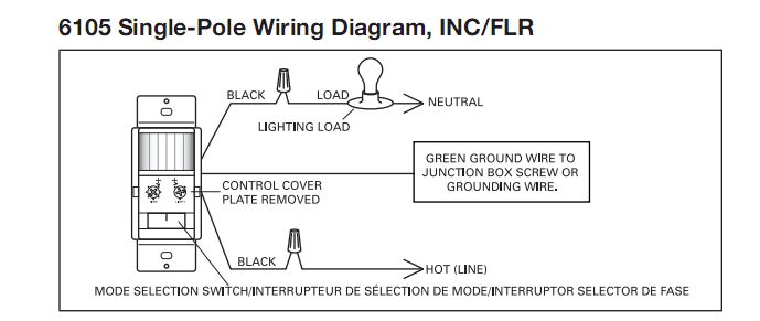 cooper 6105 wiring diagram conflicts terry love plumbing the white wire should have been marked a black mark or piece of electrical tape when it was originally installed to mark it is being hot