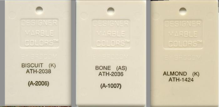 Matching American Standard, Kohler, Toto color in Bone-almond and ...