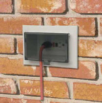 New exterior receptacle in old brick wall terry love plumbing on install electrical outlet brick wall Outlet Wiring 2-Way How Do I Power Up Light Switch with an Outlet A