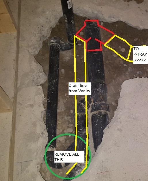 basement shower drain p trap best