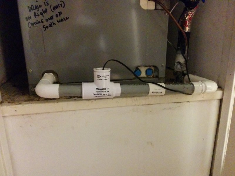 Backed up drain (condensate?) line still after using shop