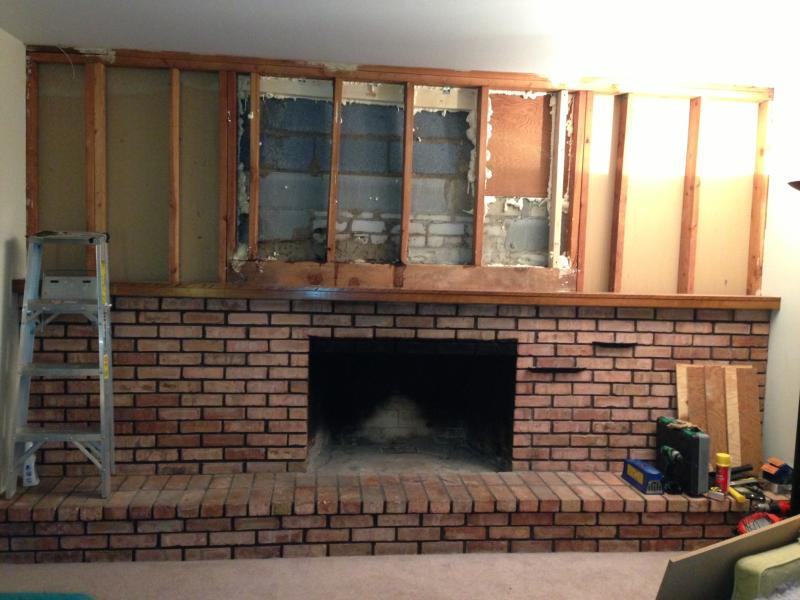 How Much Of The Old Fireplace Can I Remove Terry Love