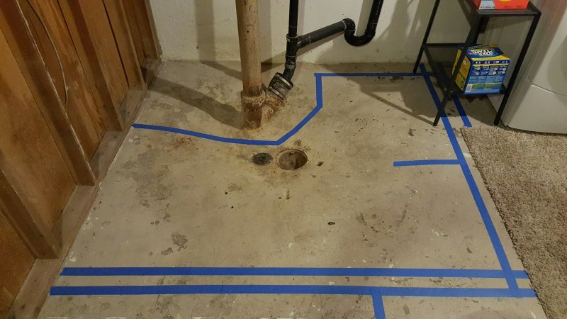 I Am In The Process Of Planning Out A Small Basement Bathroom. I Have An  Existing Floor Drain That Is Only 12
