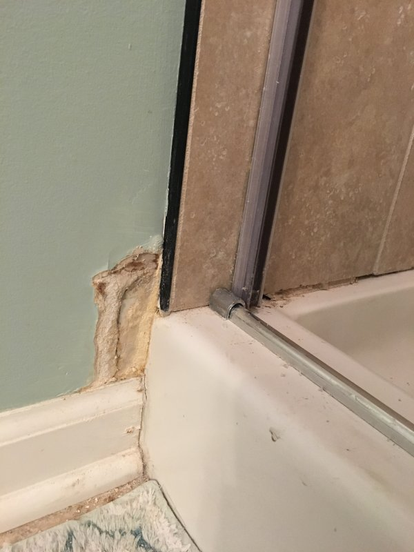 Drywall beside shower is getting wet | Terry Love Plumbing & Remodel ...