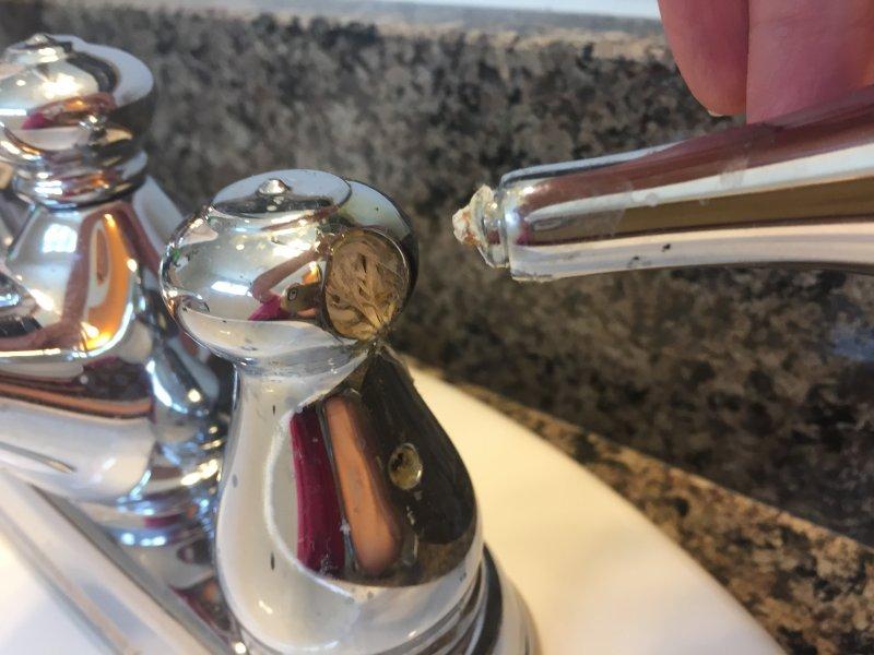 Broken bathroom faucet handle | Terry Love Plumbing & Remodel DIY ...