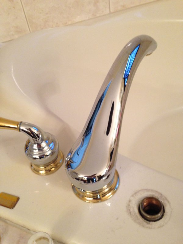 replace roman tub faucet. Thanks so much  Moen Monticello Roman Tub Want to Switch the Trim Help with