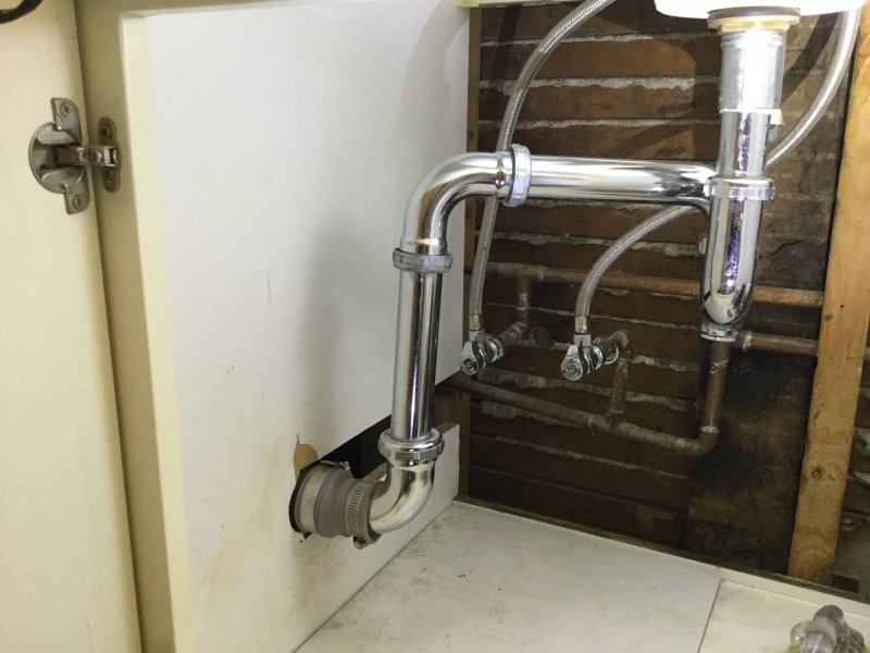 Bath Sink Drain On Wall Left Of Vanity Installing Pedestal Terry Love Plumbing Advice Remodel Diy Professional Forum