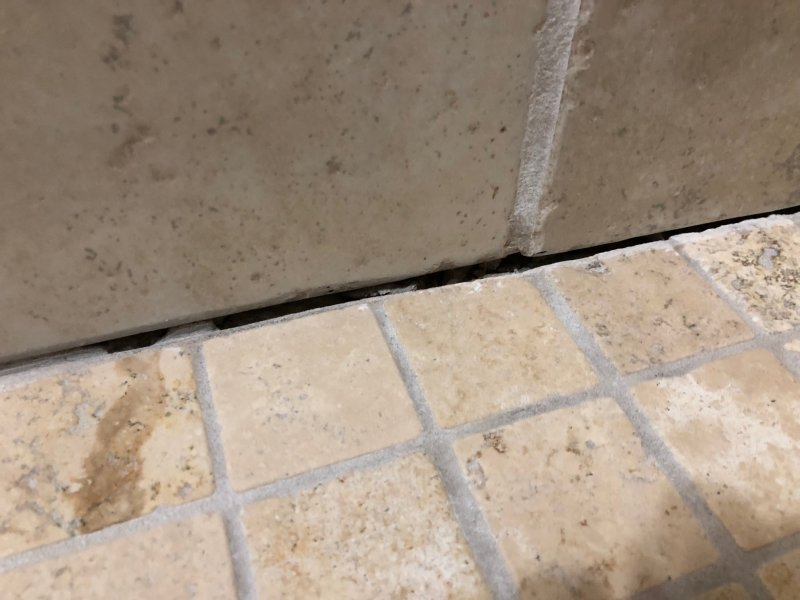 Tiled Shower Floor To Wall Joint