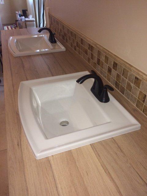Drop In Bathroom Sink Kohler Archer On Laminate Countertop Terry - Bathroom sink sealant