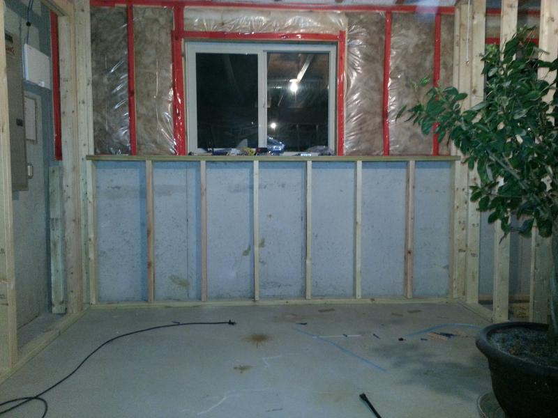 Framing A Basement Half Wall Against Concrete Tcworks Org