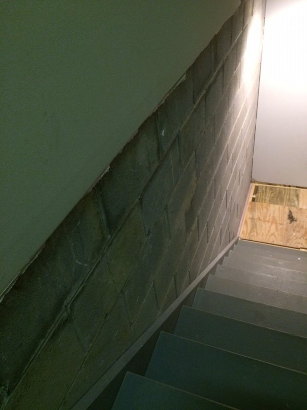 Finished Wall Against Cinder Block In Basement Terry