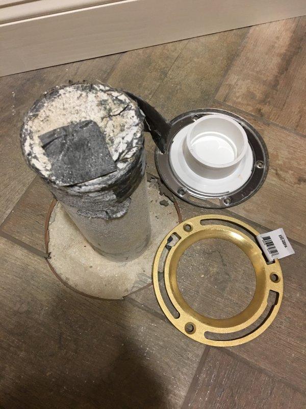 Toilet flange installation on concrete basement floor advice