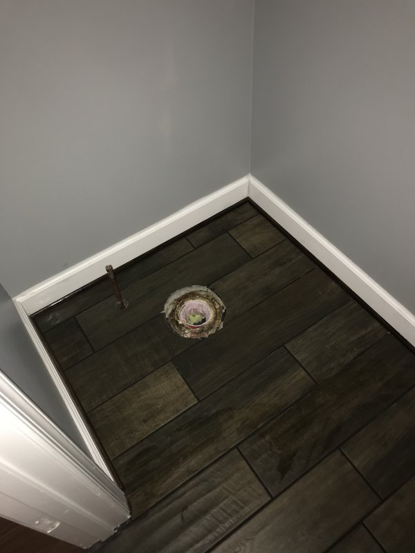 Toilet Installation Tile Floor Terry Love Plumbing Remodel Diy