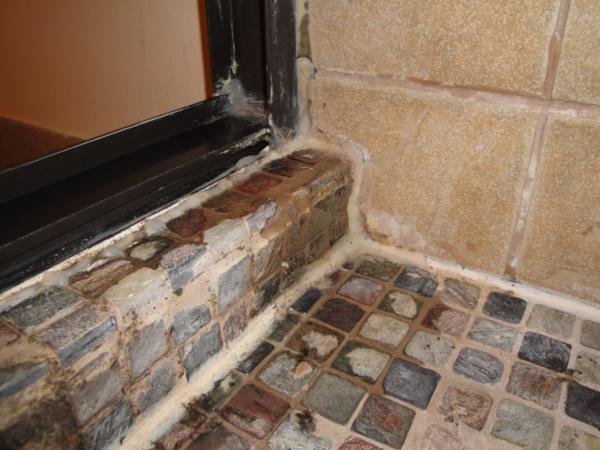 Leaky Shower Door With Slate Tile Terry Love Plumbing Remodel - Shower leaking through floor