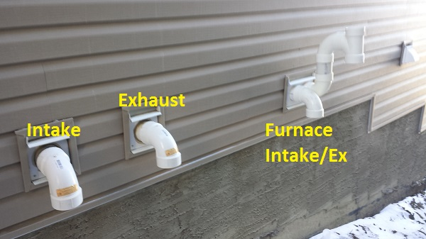 Hot Water Heater Intake Vent Collecting Frost