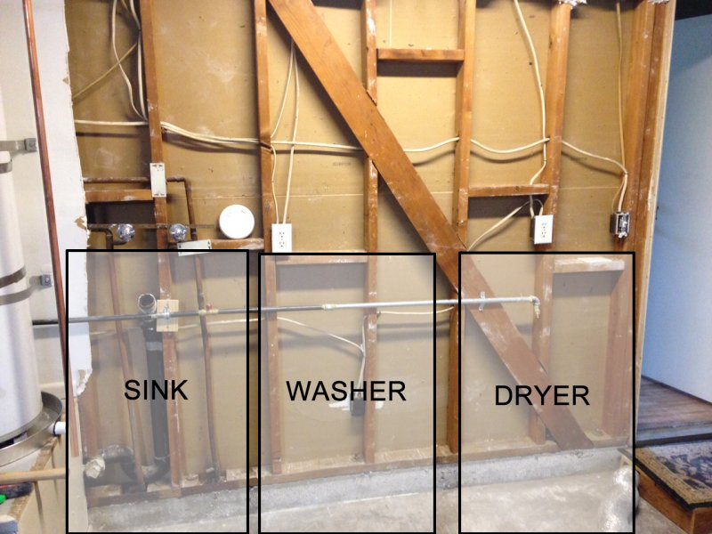 Help Adding New Utility Sink And Washer Waste Wipe