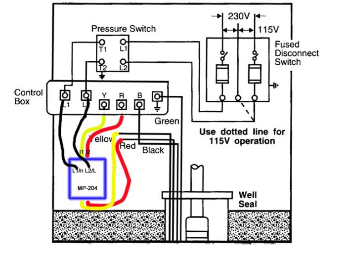 water pump wiring diagrams 230v
