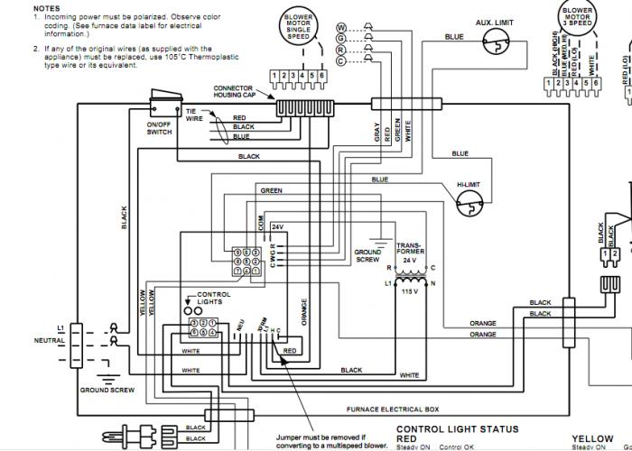 goodman furnace thermostat wiring diagram 100 4 electric
