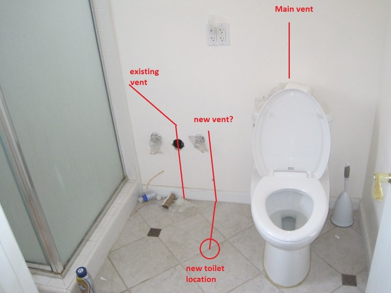 Bathroom Remodel Moving Plumbing : Moving toilet location and venting terry love plumbing