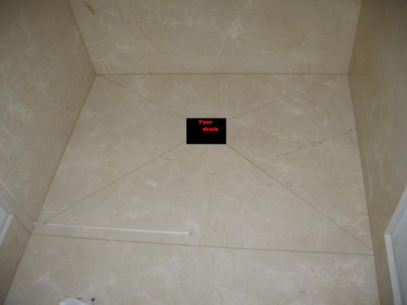 tiling shower floor in seperate sections | Terry Love Plumbing ...