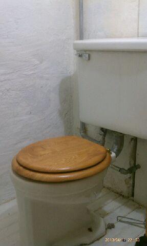 Unique High Tank toilet Conversion