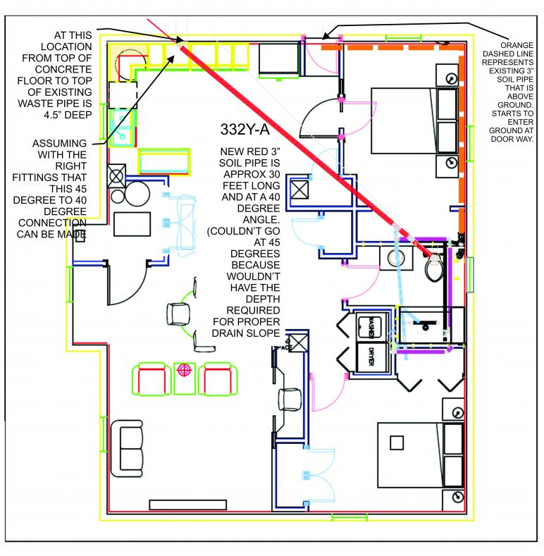 Plumbing plan plumbing contractor for Plumbing a house layout