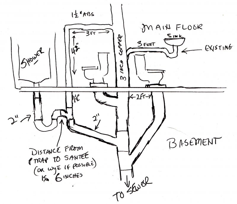 Bathroom Plumbing Plan Re Done Please Advise