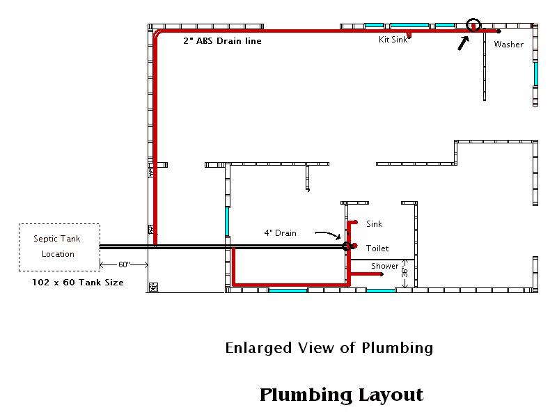New Construction Plumbing Layout – Floor Plan With Plumbing Layout