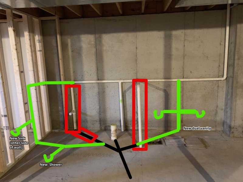 Sanity Check On Basement Bathroom Plumbing And Venting Terry Love Plumbing Advice Remodel Diy Professional Forum