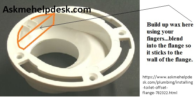How to install a wax ring on a toilet with a offset flange